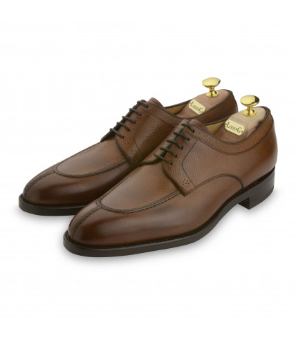 Derby Goodyear Denley 411 grained-tobacco brown leather