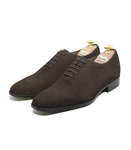 Suede One-cut Oxford Giulio 1000 - Brown