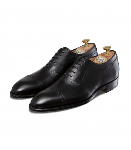 Box Calf Oxford Shoes with straight toe-cap 507 Birgmingham - Black