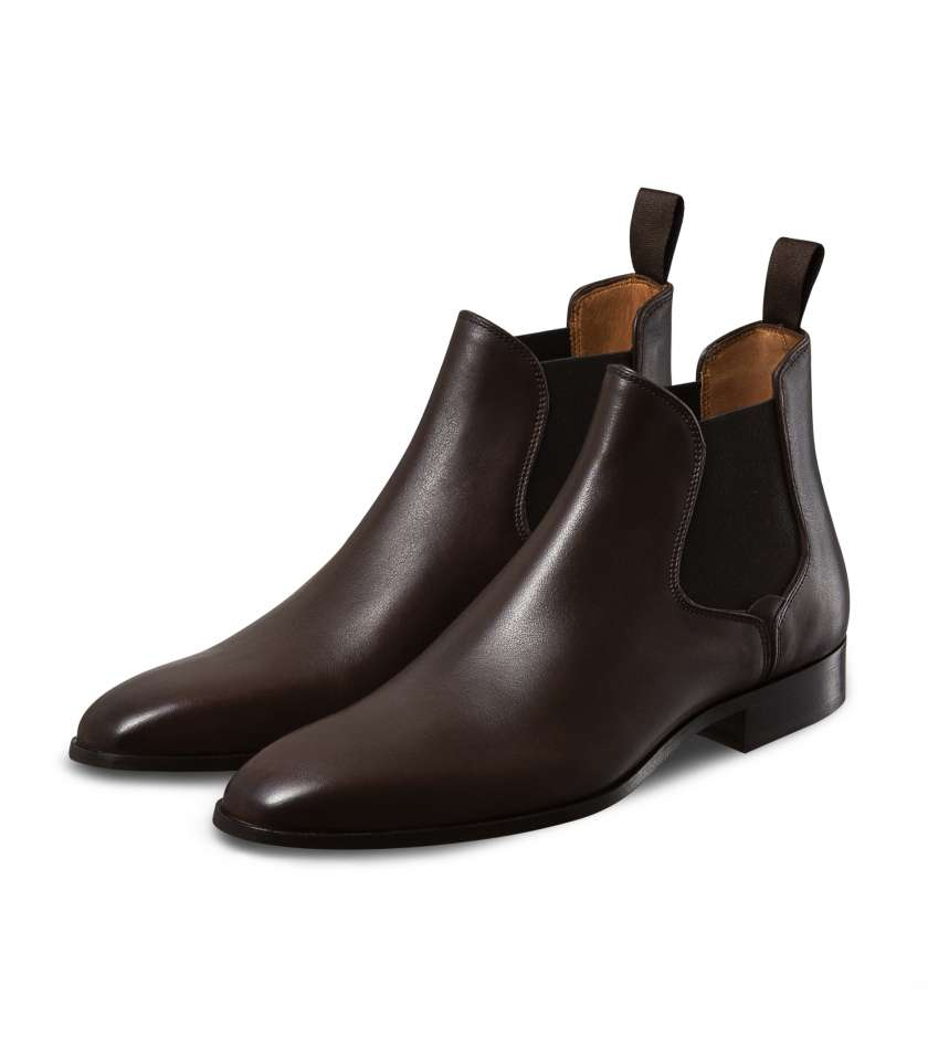Bottines chelsea marron Giuliano 1007