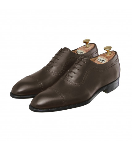 Box Calf Oxford Shoes with straight toe-cap 507 Birgmingham - Brown