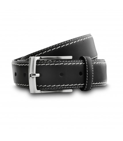 Brown topstitch belt